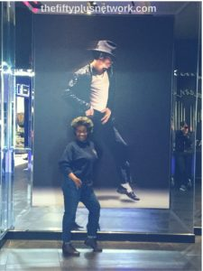 Dancing with Michael Jackson at Michael Jackson One Theater! over50 thefiftyplusnetwork